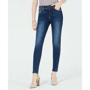 FLYING MONKEY Frayed-Yoke Skinny Jeans Cordova 27